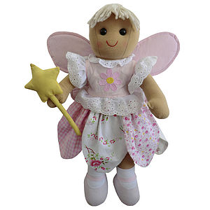 Angel Rag Doll With Wings And Wand