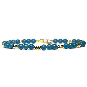 Sea Green And Gold Bracelet