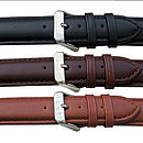 standard strap from top to bottom: black, brown and tan
