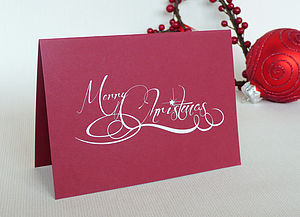 Merry Christmas Cards Pack Of Four