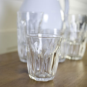Set Of Six Large Cafe Style Glasses - dining room