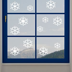 Snowflake Static Window Stickers - bedroom