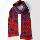 Personalised 'Happy Christmas' Scarf