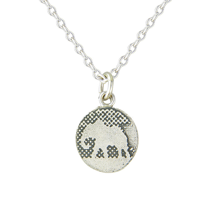 Little sterling silver elephant pendant by charlotte lowe jewellery little sterling silver elephant pendant aloadofball Image collections