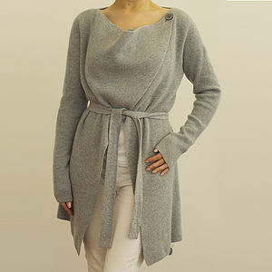 Cashmere Drape Collar Cardigan 20% Off