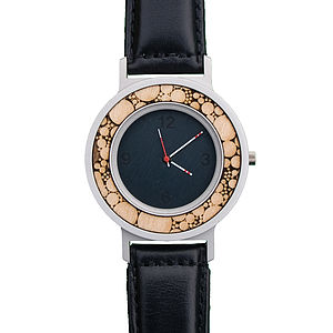 Nuclei Series Watch With Leather Strap
