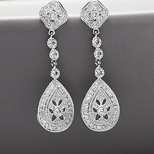Vintage Style Drop Crystal Earrings - earrings