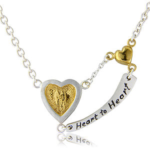 Heart To Heart Engraved Necklace