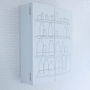 Inside Out Double Door Bathroom Cabinet - furniture