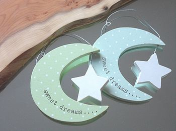 'Sweet Dreams' Moon Hanging Decoration