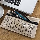 Create Your Own Sunshine Pencil Case