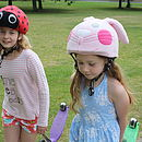 Childs Pink Bunny Hi Vis Helmet Cover