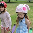 Childs Pink Bunny Hi Vis Helmet Cover