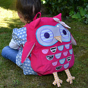Child's Owl Rucksack - back to school essentials