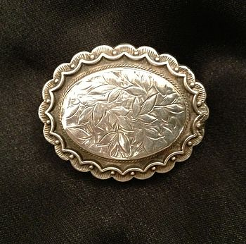 Victorian Silver Oval Brooch