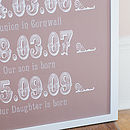 Large Personalised Dates Art Print