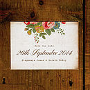 Floral Illustration Postcard Save the Date Card