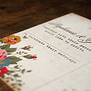 Floral Illustration Postcard Detail