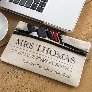 Personalised Teacher Pencil Case - office & study