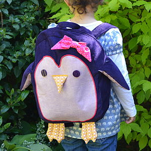 Child's Penguin Rucksack - girls' bags & purses