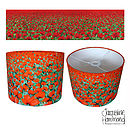 Blowing Poppies Lampshade By Jacqueline Hammond for Smart Deco Style