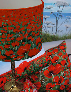 Blowing Poppies Lampshade - home sale