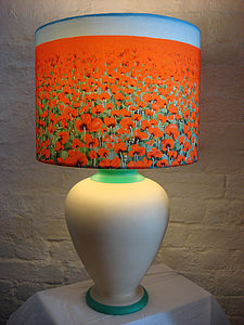 Poppy Blue Sky Art Print Lampshade