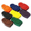 Set Of Eight Russian Doll Crayons