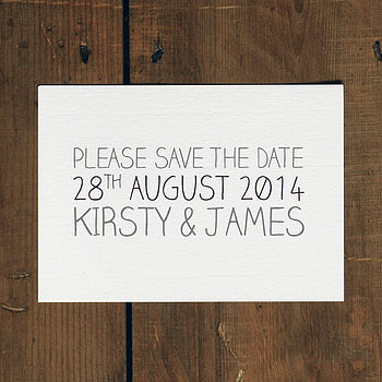 All Words - Whimsical Save the Date Card