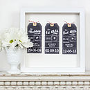 Black and white Memory Luggage Tags