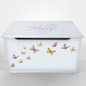 Personalised Toy Box For Girls - children's furniture