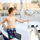 Boy's Sailboat Swim Shorts