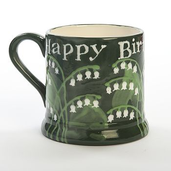 Personalised Lily Of The Valley Mug