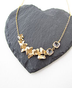 Gold Fivefold Flower Necklace - necklaces & pendants