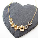 Gold Fivefold Flower Necklace