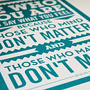 'Be Who You Are' Dr Seuss Print