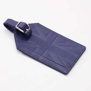Britannia Leather Luggage Tag - luggage