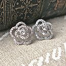 Crystal Encrusted Rose Earrings