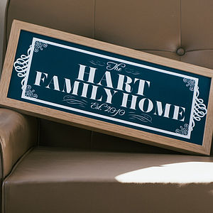 Personalised Family Plaque - prints for christmas