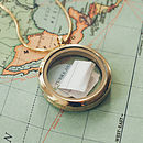 Gold Memories Locket with a map and love note