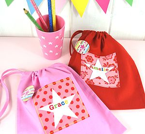 Girl's Personalised Bright Star Party Bags