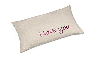 'I Love You' Linen Cushion - cushions