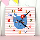 Girl's Wall Clock Various Designs