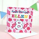 Girl's Personalised Age Cards