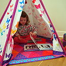 Child Teepee And Mat Butterfly Design