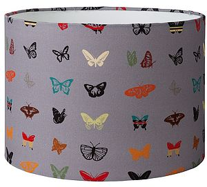 Midnight Butterfly Lampshade - lighting