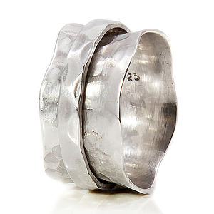 Handmade Sterling Silver Spinning Ring - rings