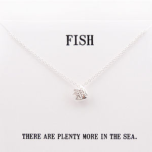 'Plenty More' Silver Fish Necklace