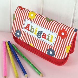 Girl's Personalised Pencil Case - stationery