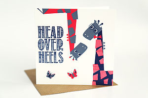 Head Over Heels Card - valentine's cards
